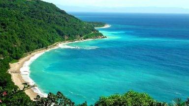 رنگ آبی دریای کارائیب