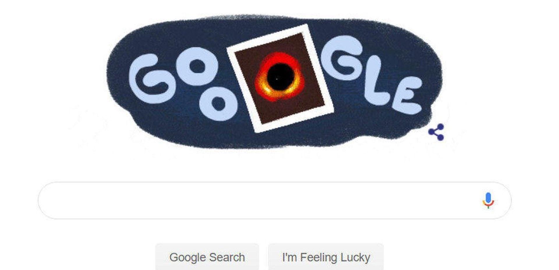 دودل گوگل - سیاهچاله