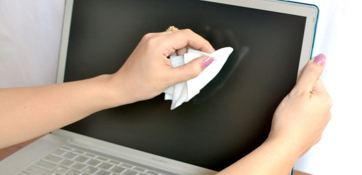 تمیز کردن لپتاپ