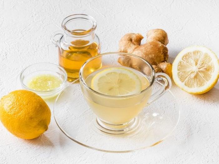 چای لیمو زنجبیل