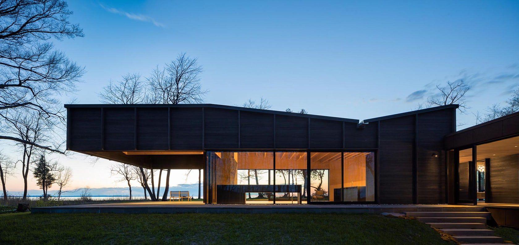 طراحی مدرن خانه-Butterflied Roof