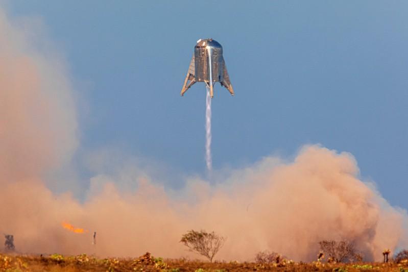 نمونه اولیه موشک SpaceX در آزمایش تگزاس