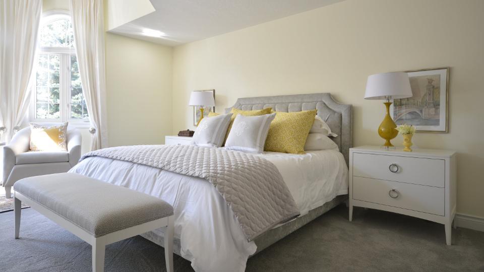 Meredith Heron Design یک اتاق خواب آرامشبخش