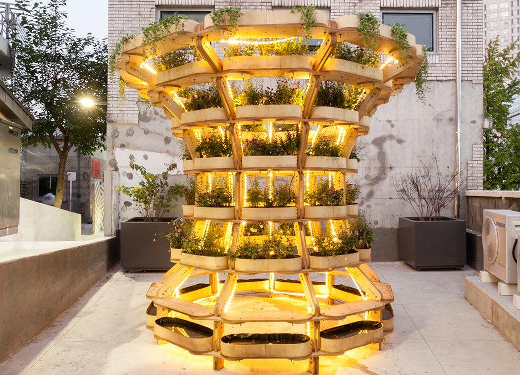 باغچه مدولار هنرمندانه المانی جهت زیباسازی محیط