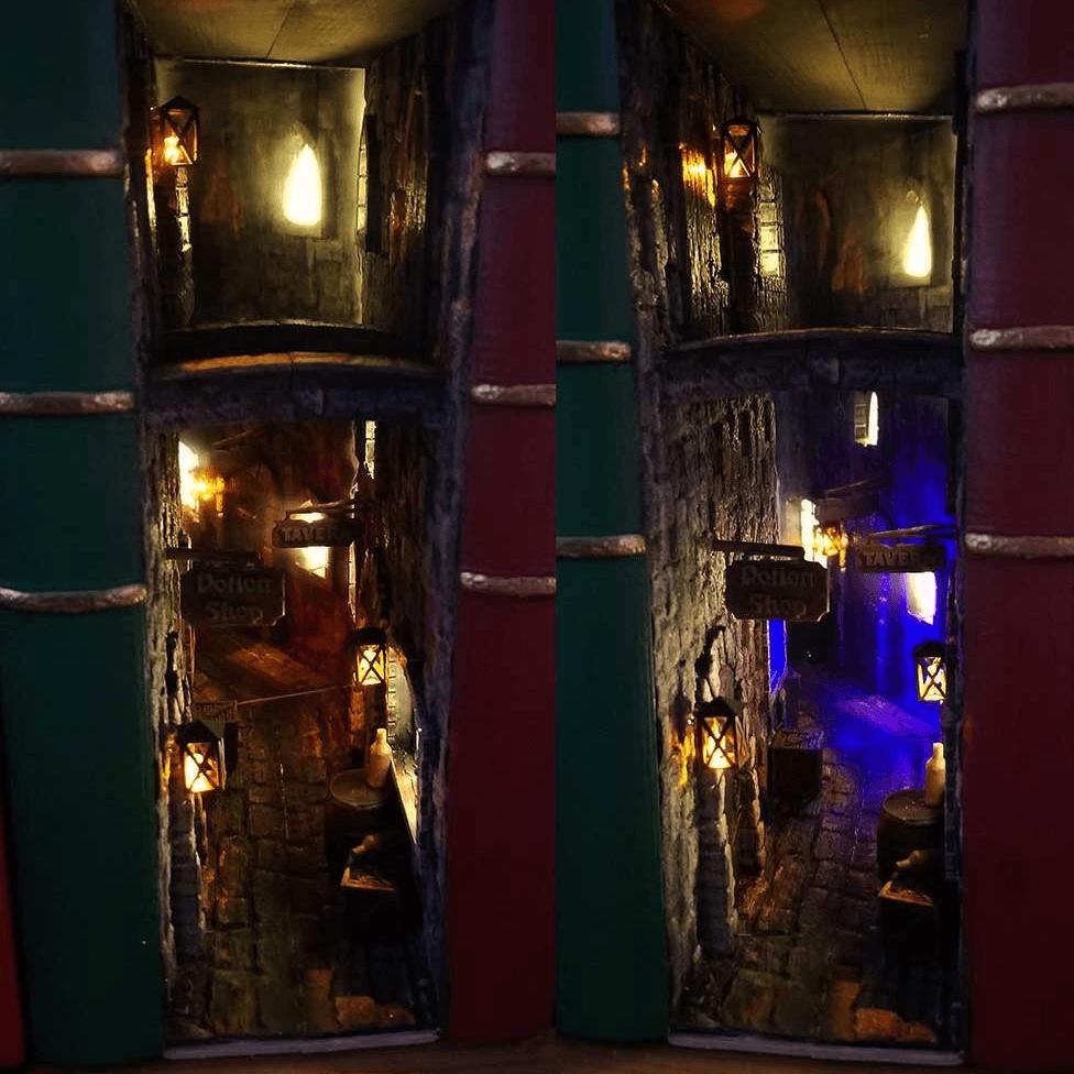 در ورودی پنهان پشت Leaky Cauldron