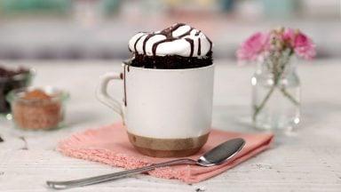 دستور پخت کیک فنجانی سریع
