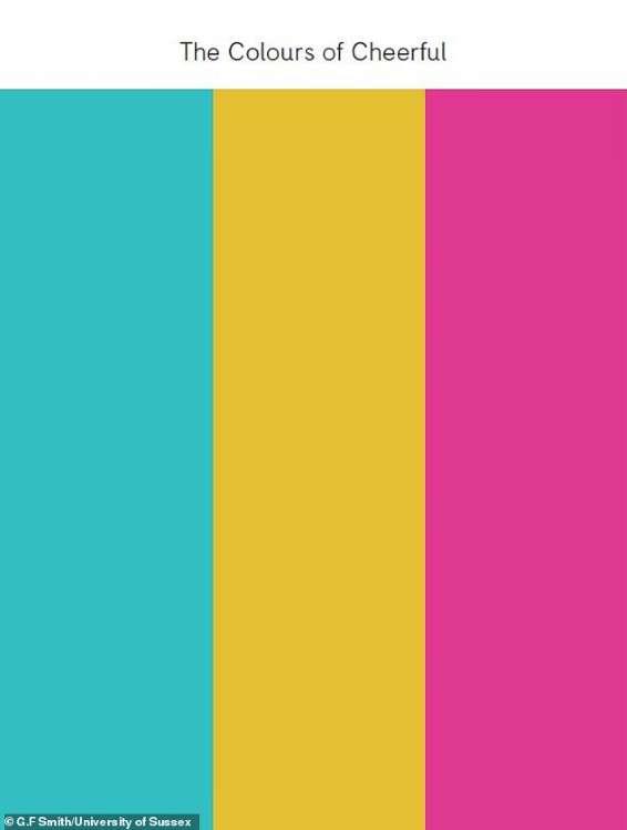 ترکیب رنگهای شادی