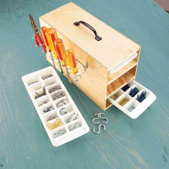 10 وسیله کاربردی قابل بازیافت - 1. جایخی
